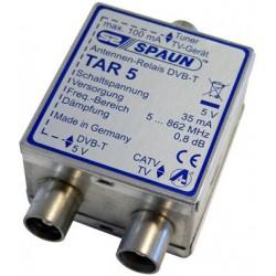 Spaun TAR 5 - antenneomskifterrelæ til dig der modtager både kabel TV og antenne TV på samme box.