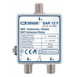 Spaun SAR 12 F Relay 0/12 v., switch between active input using 0/12 volt as controlsignal