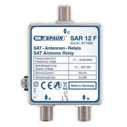 Spaun SAR 12 F Relæ 0/12 volt for skifte mellem aktiv indgang på SAT / parabolantenne. Topkvalitet fra Spaun.