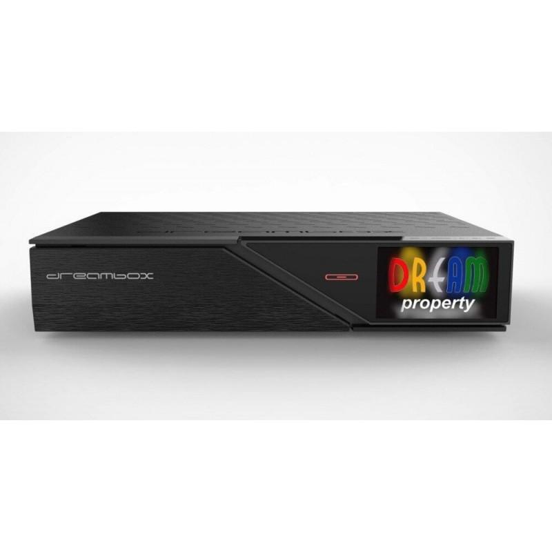 Dreambox DM900 UHD 4K E2 Linux digitalmodtager 1x DVB-C/T2 Dual Tuner til modtagelse af Kabel TV og Antenne TV