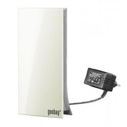 Stueantenne - Digitalt TV (DVB-T/T2) + DAB - design superkompakt, hvid