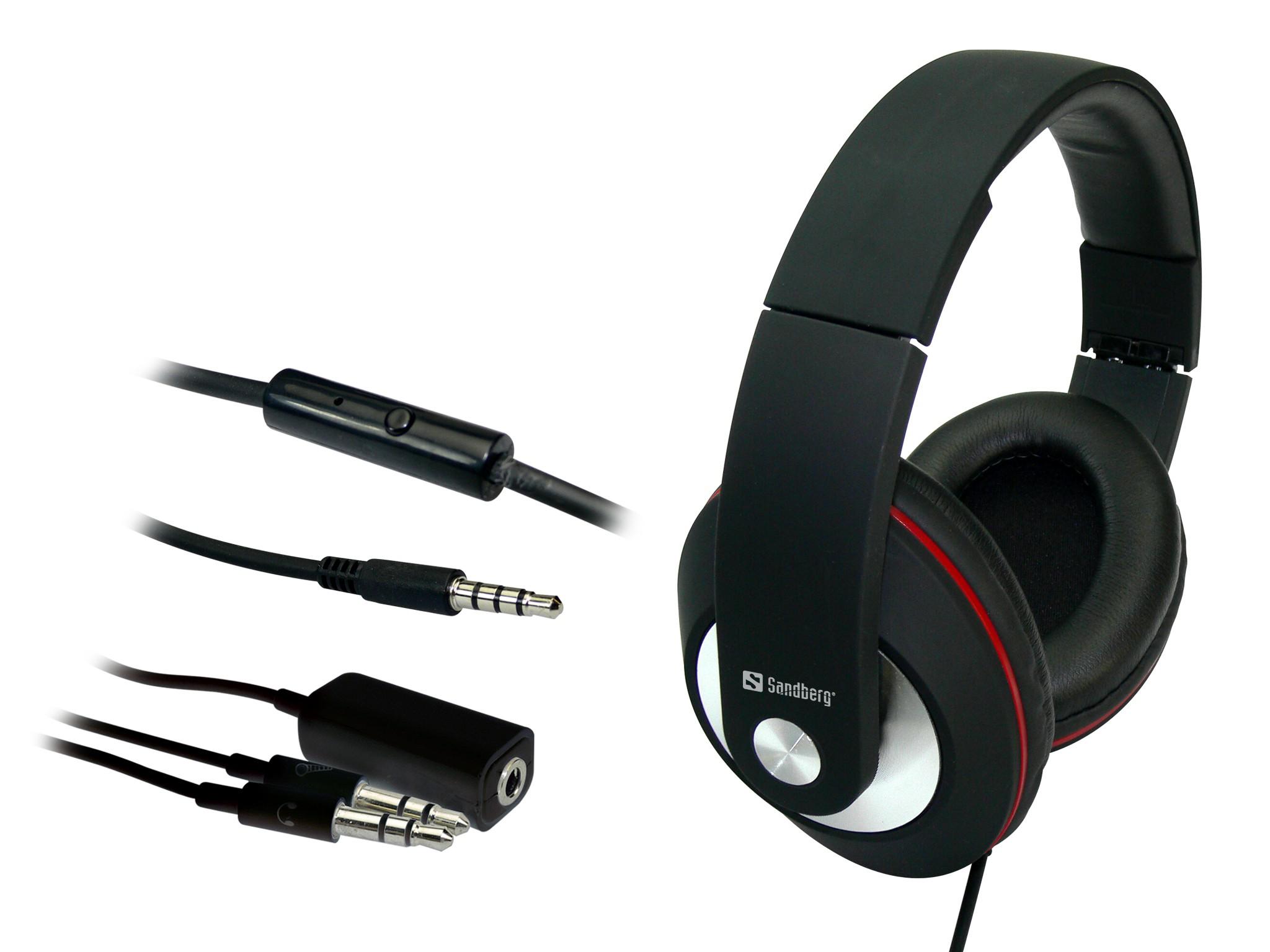 ... Med Sandberg Play n Go Headset får du flot lyd pakket ind i et lækkert  headset i foldbart design 1f172d7d8f086