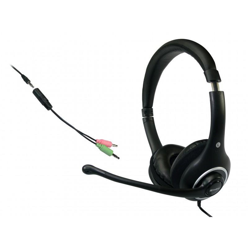 Headset kan tilsluttes direkte til mobil. Plug'n Talk