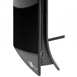 Stueantenne - Digitalt TV (DVB-T/T2) + DAB design superkompakt, sort.