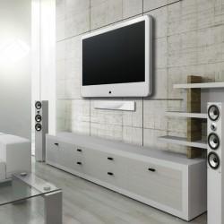 Aktiv Full-HD DVB-T/DVB-T2/DAB stueantenne med strømforsyning.Flot soundbar-look. Hvid.
