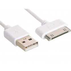 Sandberg USB 30pin Sync/Charge 1m White