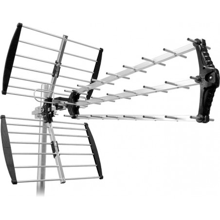 Maximum UHF 200 antenna for reception of Digital TV signals on UHF channels 21-60. LTE-4G stopfilter and high gain.