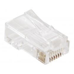 RJ45 Stik - Lav selv dine egne LAN / Netværkskabler og få den længde du selv ønsker. Kræver specialtang til montering.