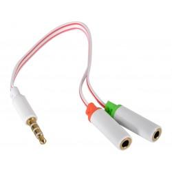 Adapter fra 2 x MiniJack til 1 x Dual MiniJack