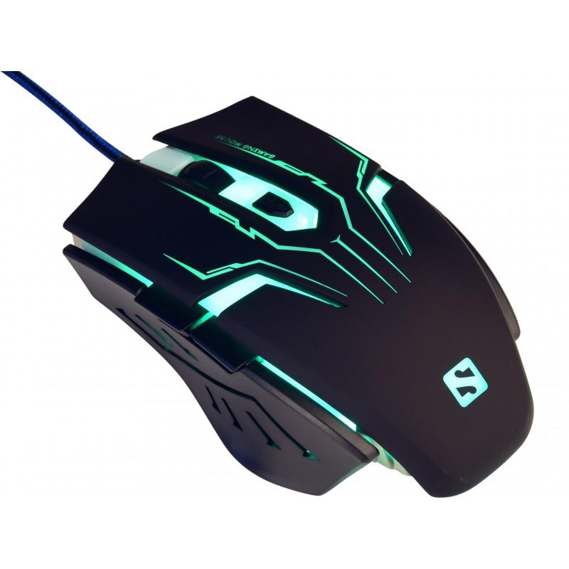 Eliminator mouse - tung 2400 DPI præcisionsmus, 6 knaps uSB mus med 7 x multicolor LED. Fræk, hurtig og præcis mus til gameren.