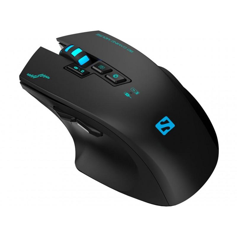 Sniper mouse til gameren - Mus med optisk sensor, 8 knapper, LED lys og fedt scroolhjul. Brug den trådløst eller med kabel.
