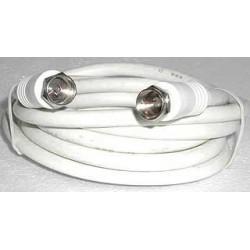 F-F kabel til tilslutning af blandt andet tagantenne,parabol, fællesantenne og kabel-TV. Høj kvalitet, dobbelt afskærmning og på