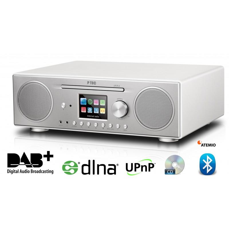 Atemio PTEC Pilatus digital radio - DAB+, FM, MP3, CD, Internetradio, Spotify, UPnP, DLNA. Stor lyd-Lækkert design.