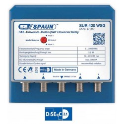 Spaun SUR 420 WSG- Universal SAT relay / DiSEqC switch. TOP QUALITY.