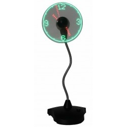 USB Desktop Fan with LED Clock display