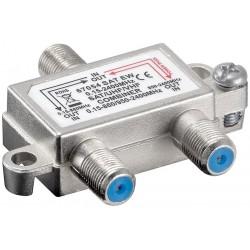 Combiner til antenne og SAT signal - nedfør antenne og SAT signal i samme kabel.