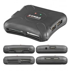 External cardreader with 3 x USB 2.0 Hub