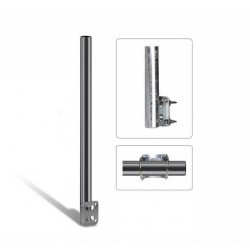 Balconymount - for mounting antenna, satellite dish or security cams on balcony railings.