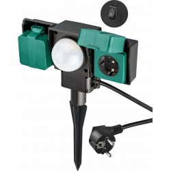 230 V.Stikdåse med dag/nat sensorstyring (skumringsrelæ)