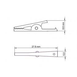 Alligator clip black 32.5 mm.