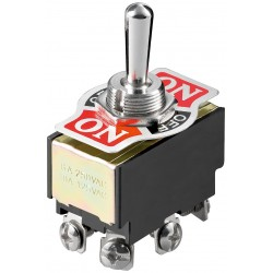 Dobbelt vippekontakt 250 V. 6 A. On/Off/On