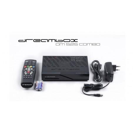 Dreambox HDTV DM525 Combo Parabol, kabel og antenne TV - 1xDVB-S2+1xDVB-C/T2 tuner