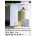 Maximum DA-6100 Udendørs DVB-T/T2/FM/DAB+ antenne,LTE filter og forstærker.