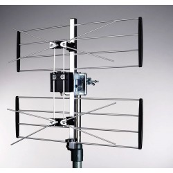 TV Antenne UHF 2 gitter antenne til digital TV (DVB-T og DVB-T2) 4G/LTE filter Maximum