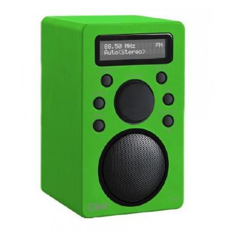 Smart transportabel DAB radio med bluetooth - lyt til musik fra din smartphone via bluetooth. Neongrøn.Clint F4 DAB+