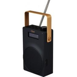 DAB DAB+ Radio og FM radio Clint F6 - med genopladeligt batteri og teleskopantenne. Kompakt og elegant.