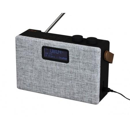 Clint F7 DAB+ / FM stereo radio with Bluetooth. Grey-black-copper.