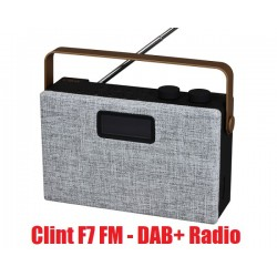 Clint F7 DAB+ / FM stereo radio with Bluetooth. Grey-black-copper.