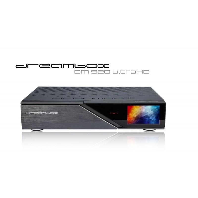 Dreambox DM 920 UHD 4K E2 Linux digitalmodtager 1 x DVB-S2 FBC Dual Tuner til Parabol TV (både SD og HD TV kanaler)