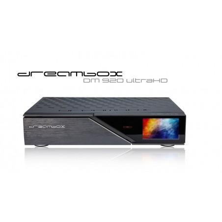 Dreambox DM920 UHD 2x Triple tuner (4 x DVB-S2X + 2 x DVB-C/T2) Antenne/Kabel og parabol TV