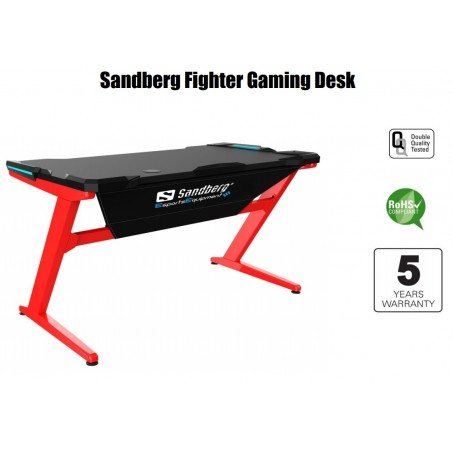 Sandberg Fighter Gaming Desk med LED lys