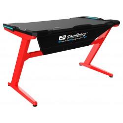 Gaming bord med LED lys - rødt - Sandberg Fighter
