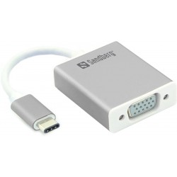 Tilslut en ekstra VGA skærm via dit USB-C stik