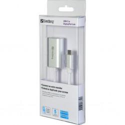 USB-C to DisplayPort Link 4K, Sandberg. Connect an extra monitor