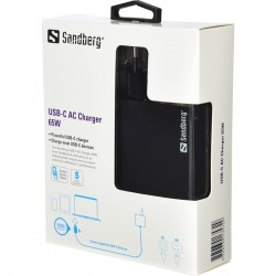 USB-C oplader 65W EU+UK, Sandberg