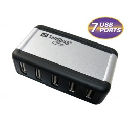 USB Hub AluGear 7 porte, Sandberg