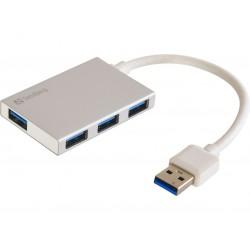 USB 3.0 Pocket Hub 4 ports, SuperSpeed 5 Gbit, Sandberg