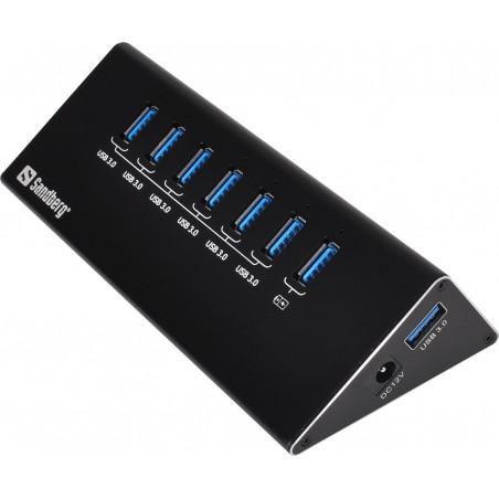 USB 3.0 Hub 6+1 ports kvalitetshub, udvid din PC med flere USB porte,Sandberg