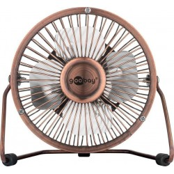 USB Desktop fan - quiet cool breeze - Ø15 cm.