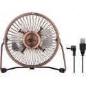 USB Desktop fan - quiet cool breeze - Ø15 cm.