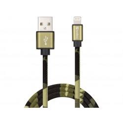 Sandberg Lightning Green Camouflage 1m, Apple MFI godkendt