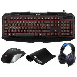 Gaming starter kit DE version 4i1 - Sandberg