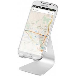 Smartphone holder - skrivebordsstand, sølvfarvet