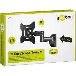 Kraftigt TV vægbeslag teleskop EasyScope Twin M