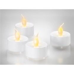 Tea Lights LED 4 pack white