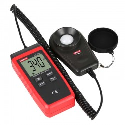 Digital Luxmeter with sensor on spiral cable